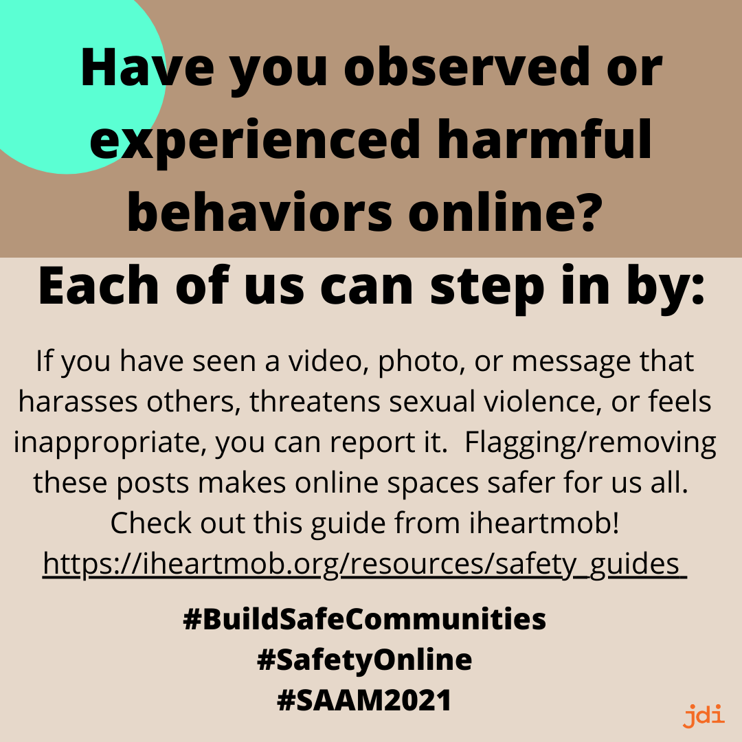 Have you observed or experienced harmful behaviors online?